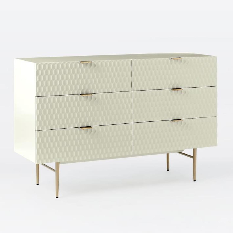 West Elm Audrey 6-Drawer Dresser, Parchment - image-1
