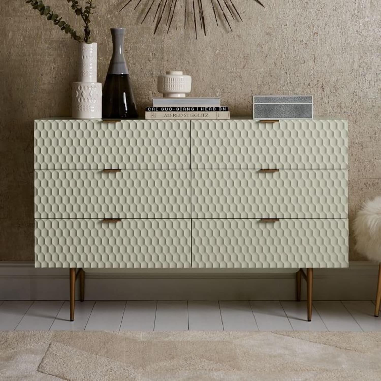 West Elm Audrey 6-Drawer Dresser, Parchment - image-3