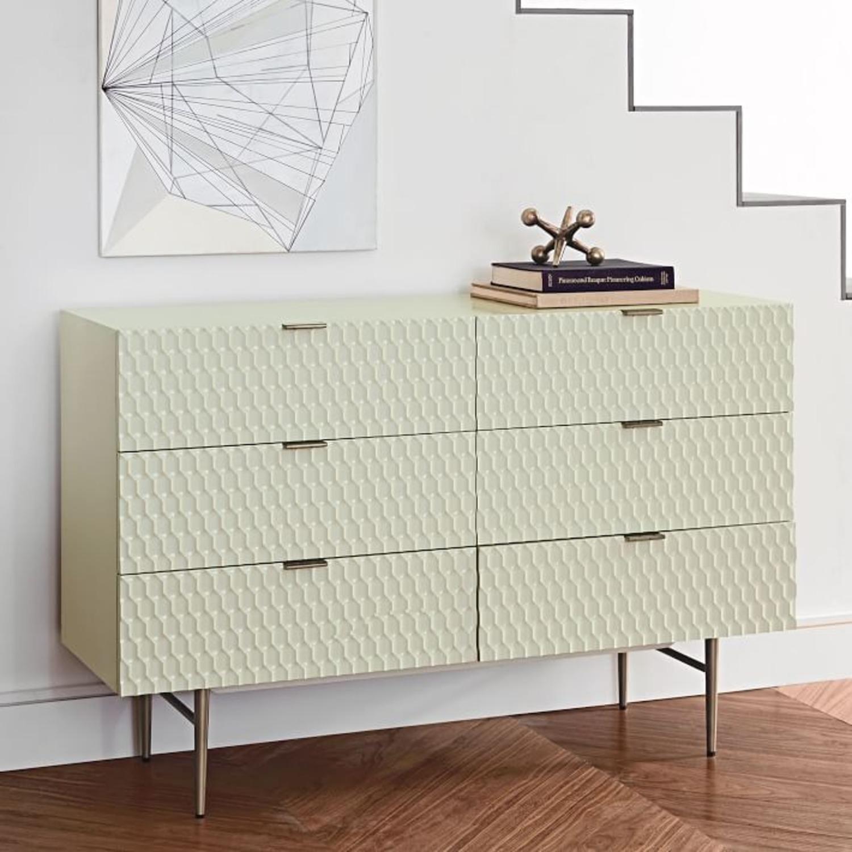 West Elm Audrey 6-Drawer Dresser, Parchment - image-2