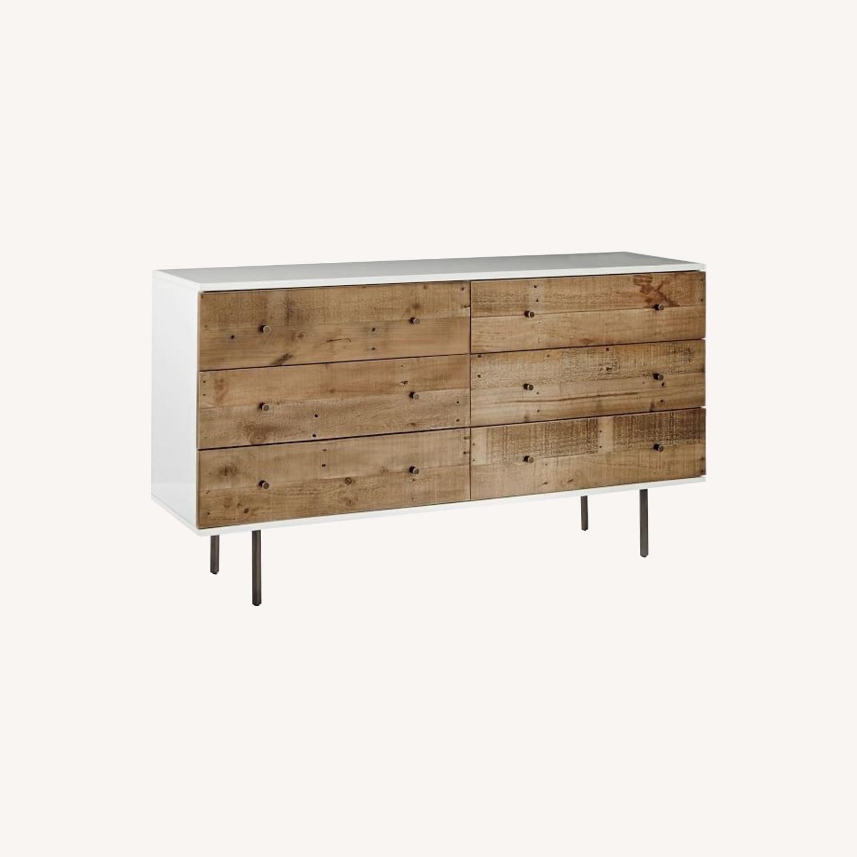 West Elm Reclaimed Storage 6-Drawer Dresser - image-0