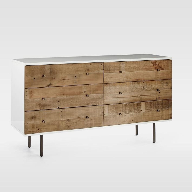 West Elm Reclaimed Storage 6-Drawer Dresser - image-1