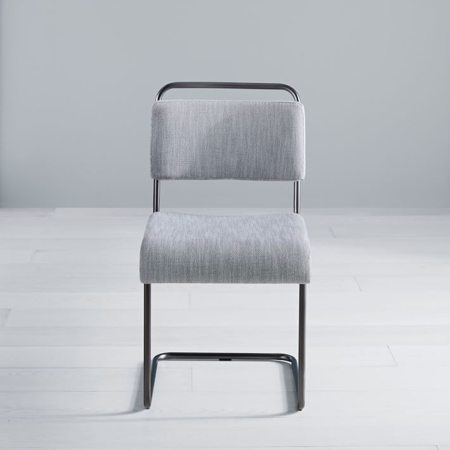 West Elm Industrial Cantilever Upholstered Chair - image-2