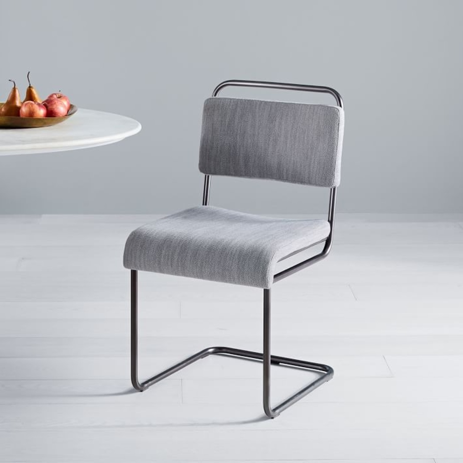 West Elm Industrial Cantilever Upholstered Chair - image-3