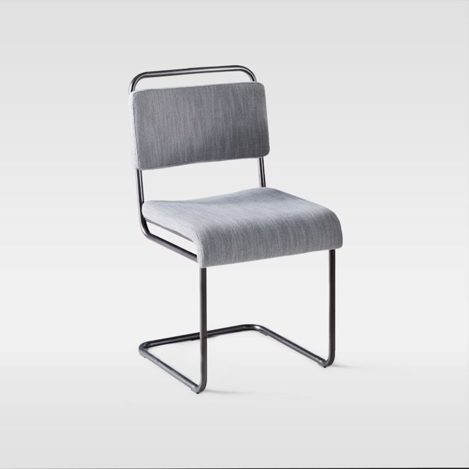 West Elm Industrial Cantilever Upholstered Chair - image-1