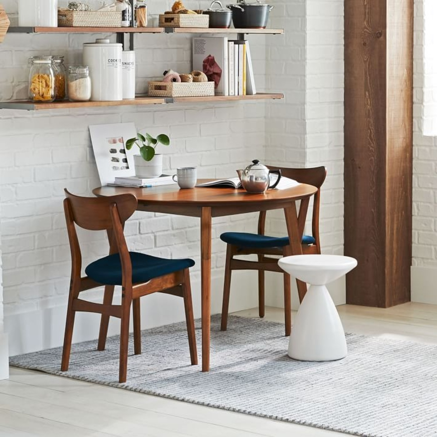 West Elm Classic Café Upholstered Dining Chair - image-3