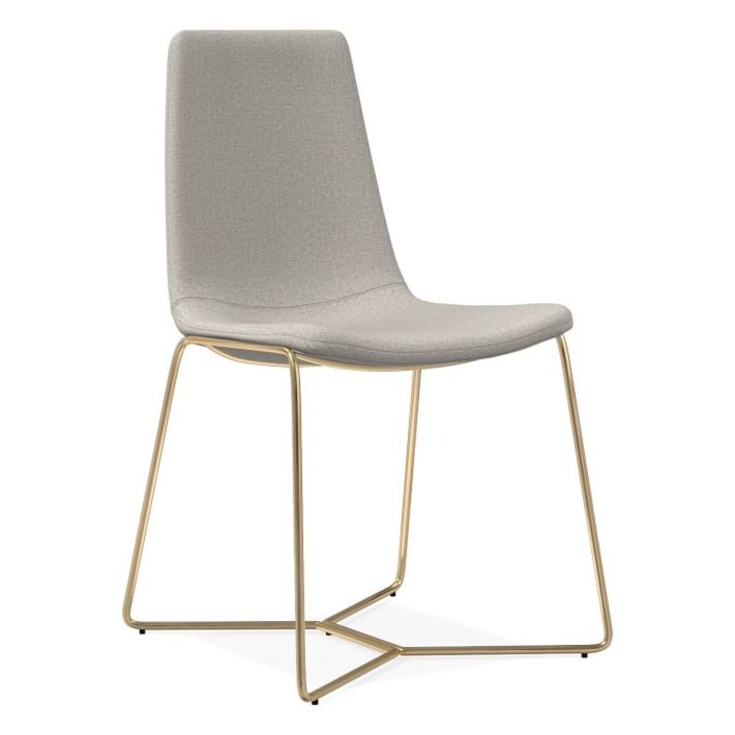 West Elm Slope Upholstered Dining Chair - image-1
