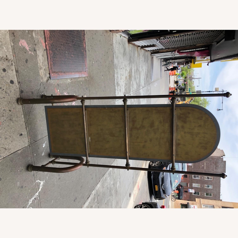 Antique 1940s Brass Floor-Standing Mirror - image-10