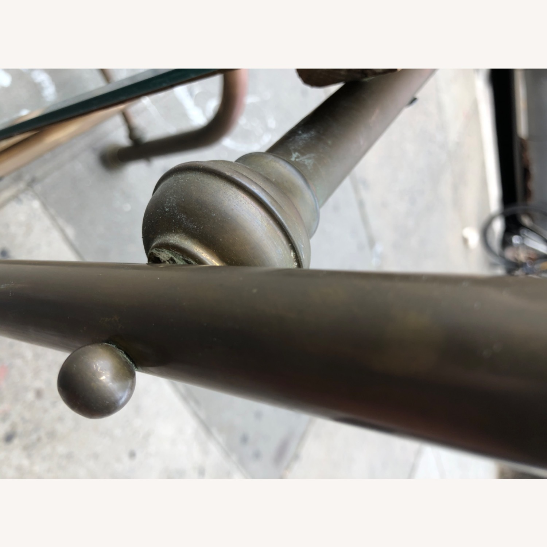 Antique 1940s Brass Floor-Standing Mirror - image-5