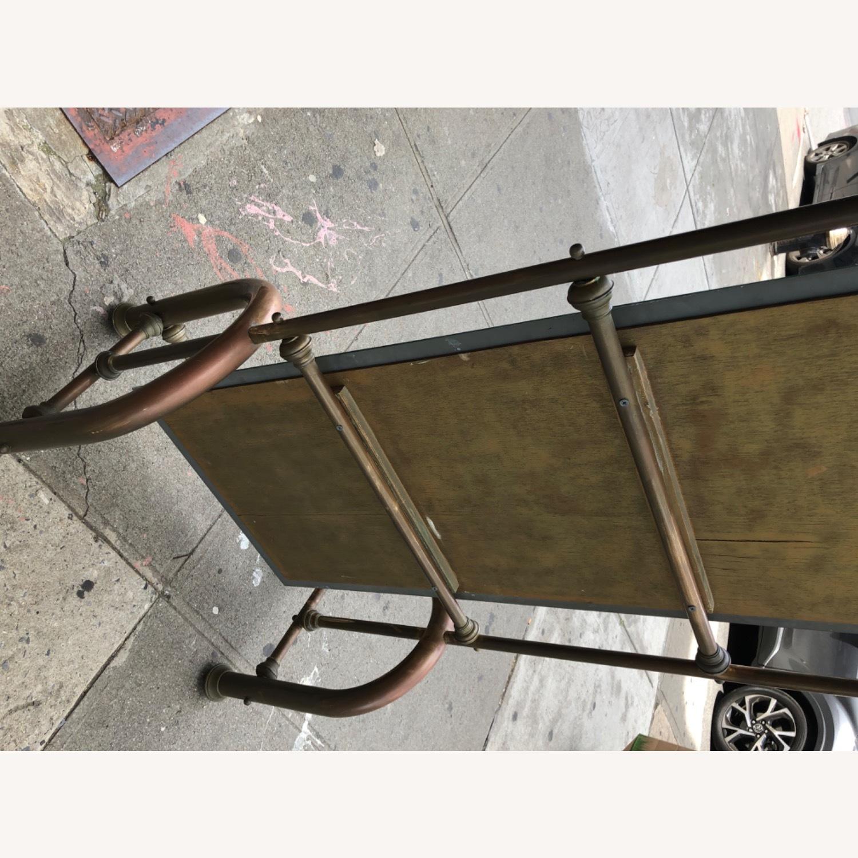 Antique 1940s Brass Floor-Standing Mirror - image-13