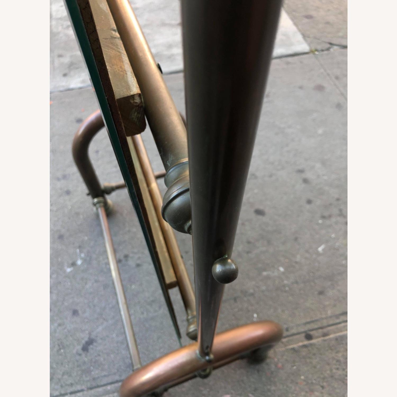 Antique 1940s Brass Floor-Standing Mirror - image-21