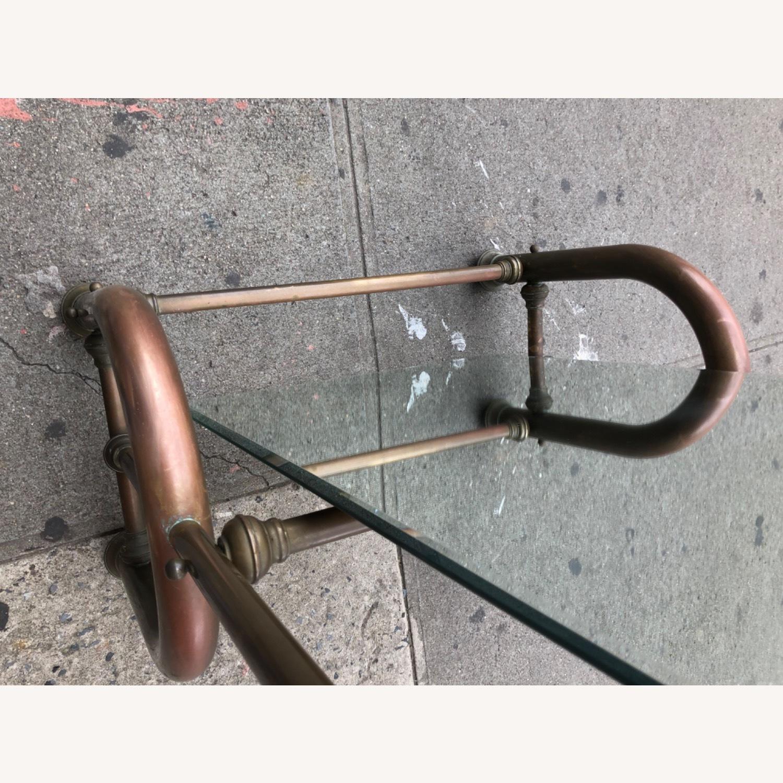 Antique 1940s Brass Floor-Standing Mirror - image-19