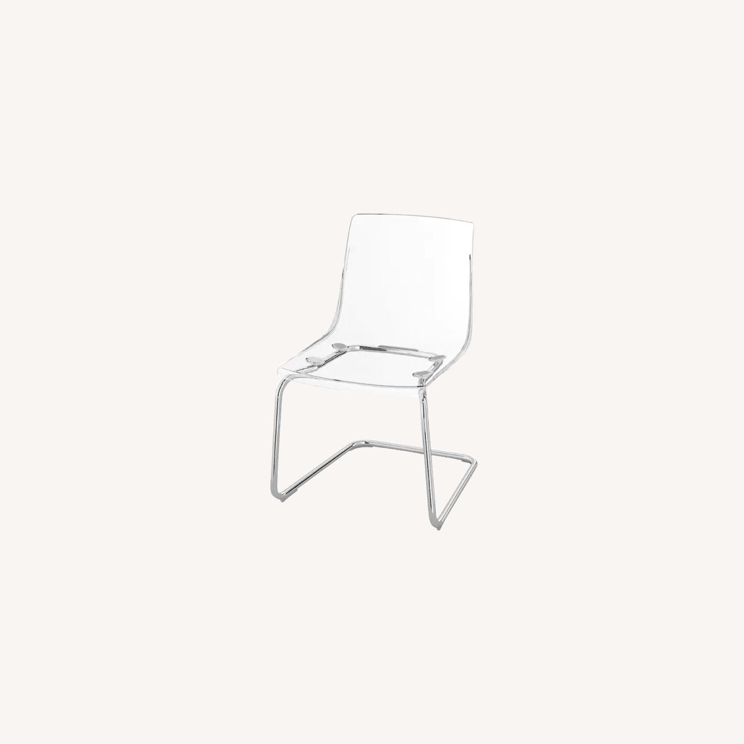 IKEA Transparent Dinning Chairs - image-0