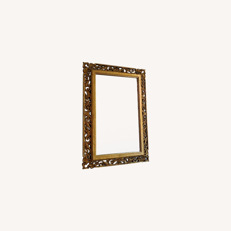 Gold Frame Vintage Mirror - image-0