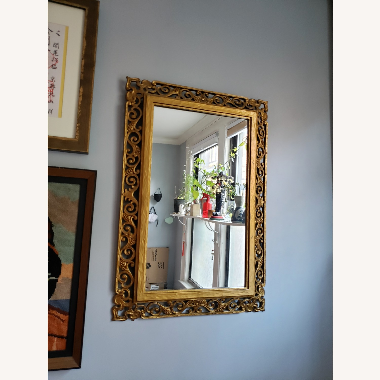 Gold Frame Vintage Mirror - image-3