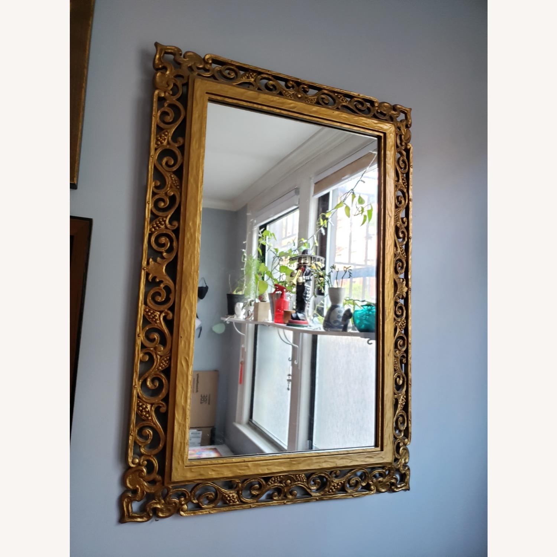 Gold Frame Vintage Mirror - image-1