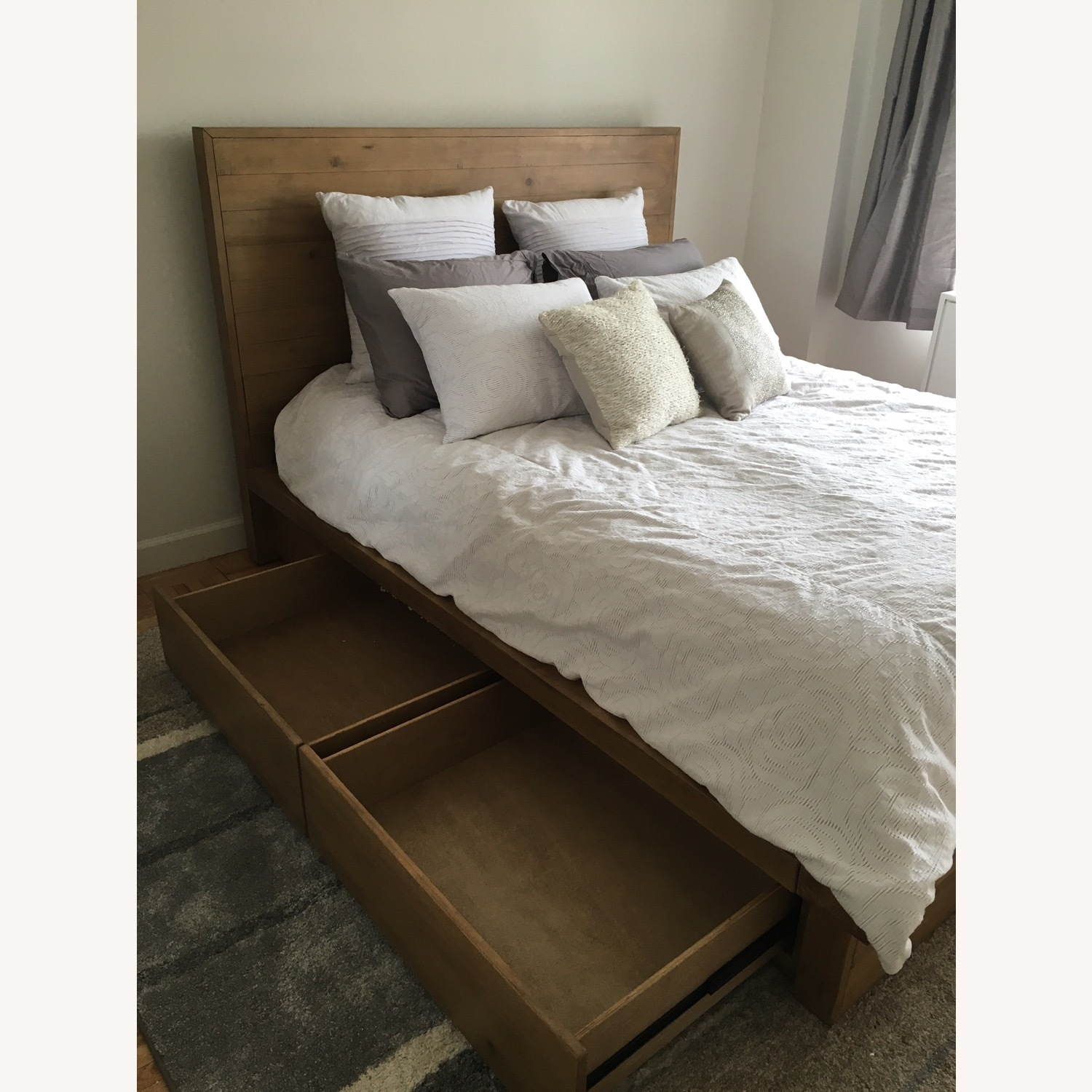 Macys Queen Wood Bedframe with Four Drawers - image-1