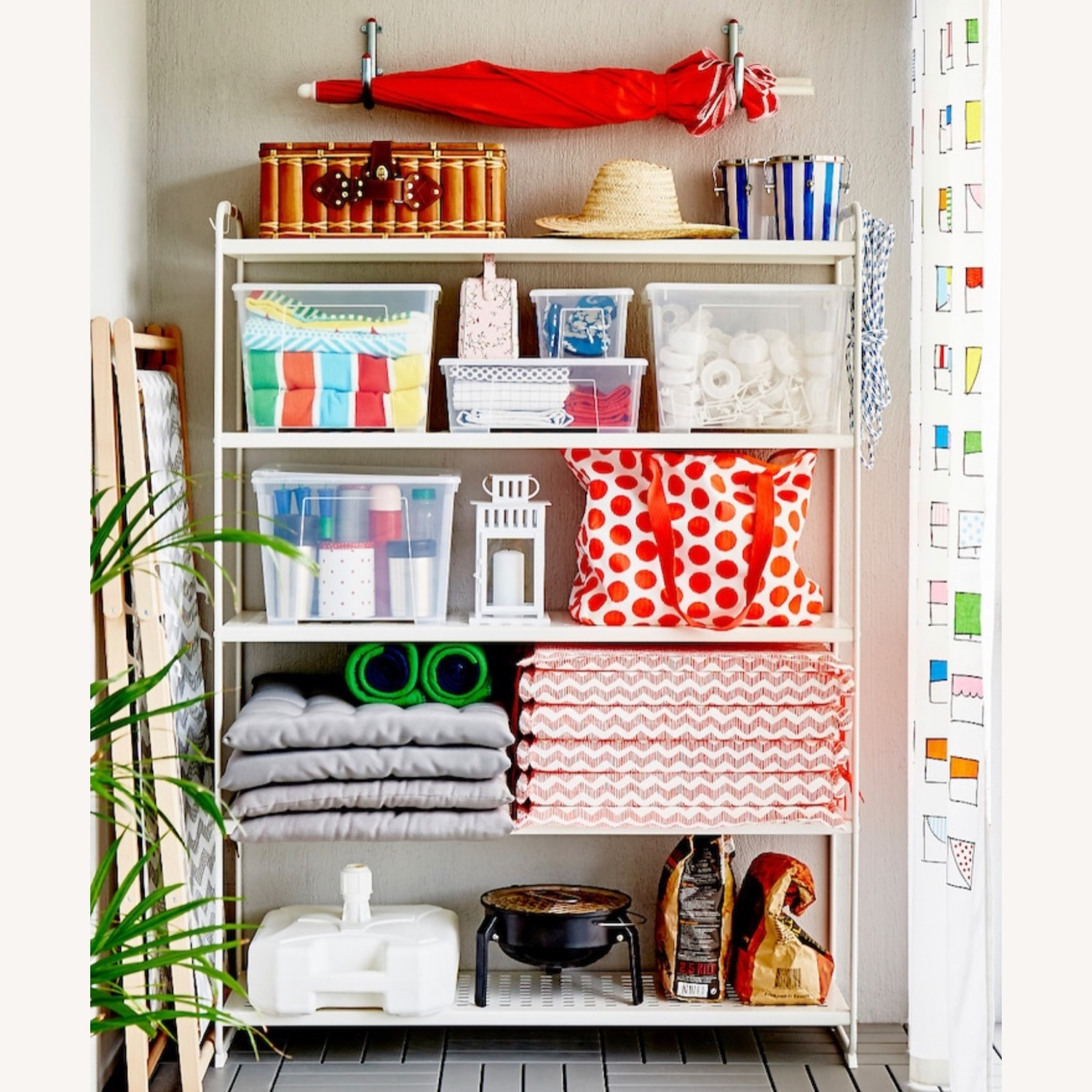 IKEA Metal Shelving Unit - image-1