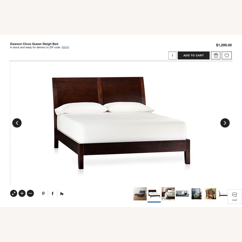 Crate & Barrel Dawson Clove Queen Sleigh Bed - image-4