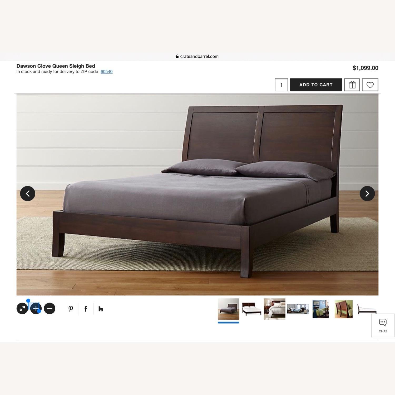 Crate & Barrel Dawson Clove Queen Sleigh Bed - image-10