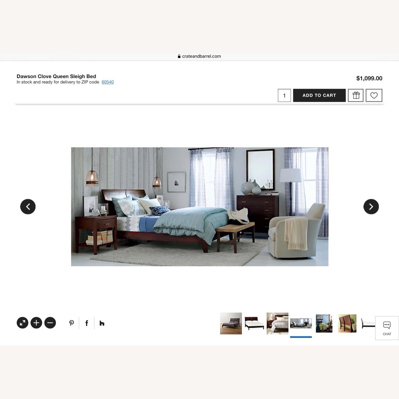 Crate & Barrel Dawson Clove Queen Sleigh Bed - image-7