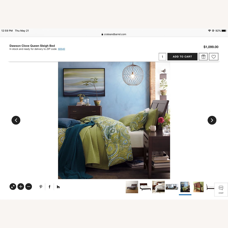 Crate & Barrel Dawson Clove Queen Sleigh Bed - image-11