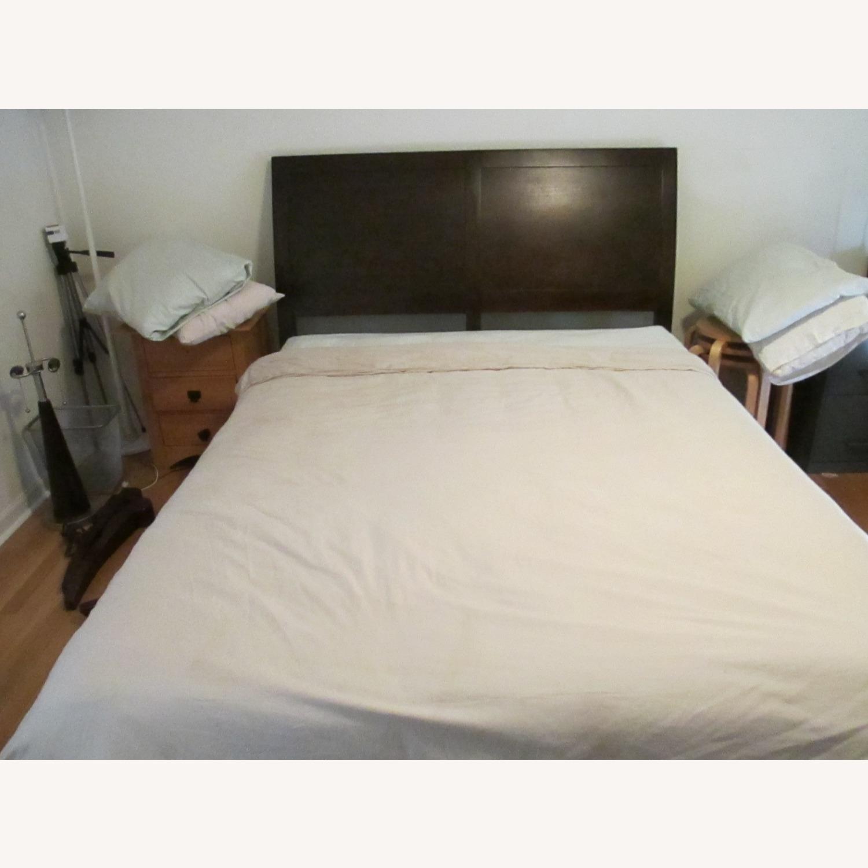 Crate & Barrel Dawson Clove Queen Sleigh Bed - image-2