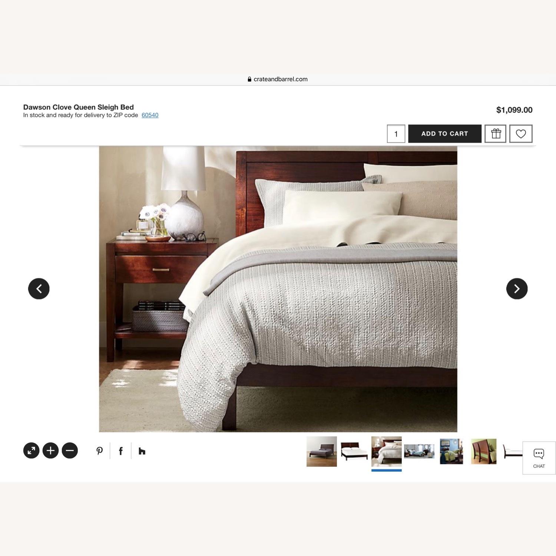 Crate & Barrel Dawson Clove Queen Sleigh Bed - image-6