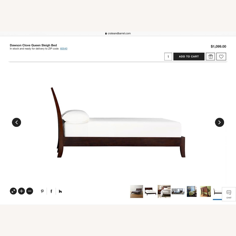 Crate & Barrel Dawson Clove Queen Sleigh Bed - image-9
