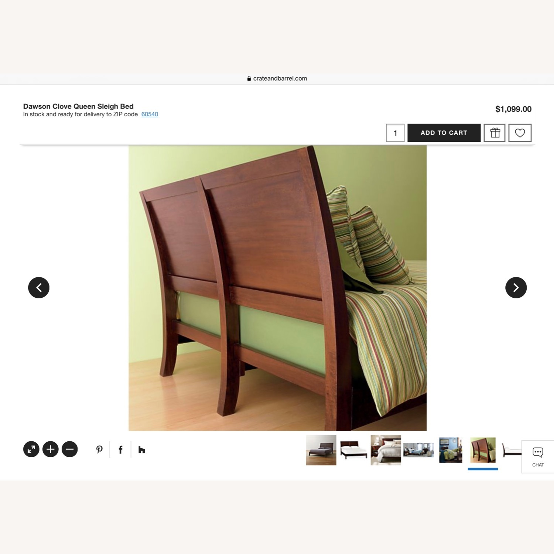 Crate & Barrel Dawson Clove Queen Sleigh Bed - image-8