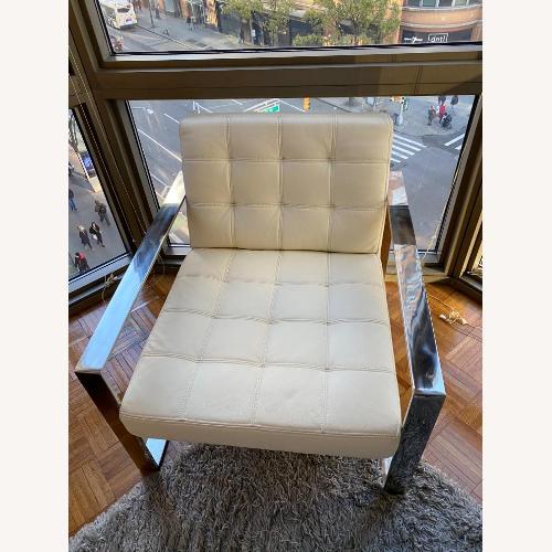 Used Modani White Leather Lounge Chair for sale on AptDeco