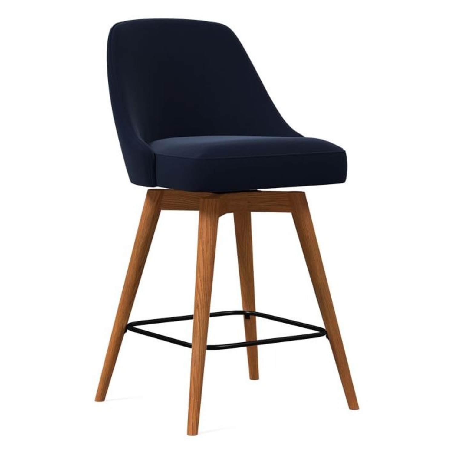West Elm Mid-Century Upholstered Counter Stool - image-1