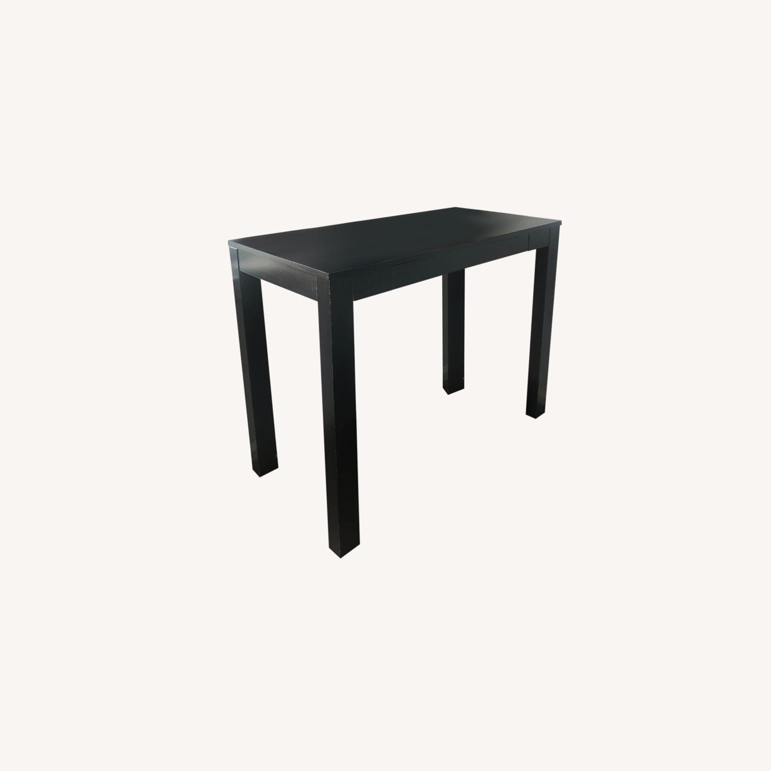 IKEA Black Desk with One Drawer - image-0