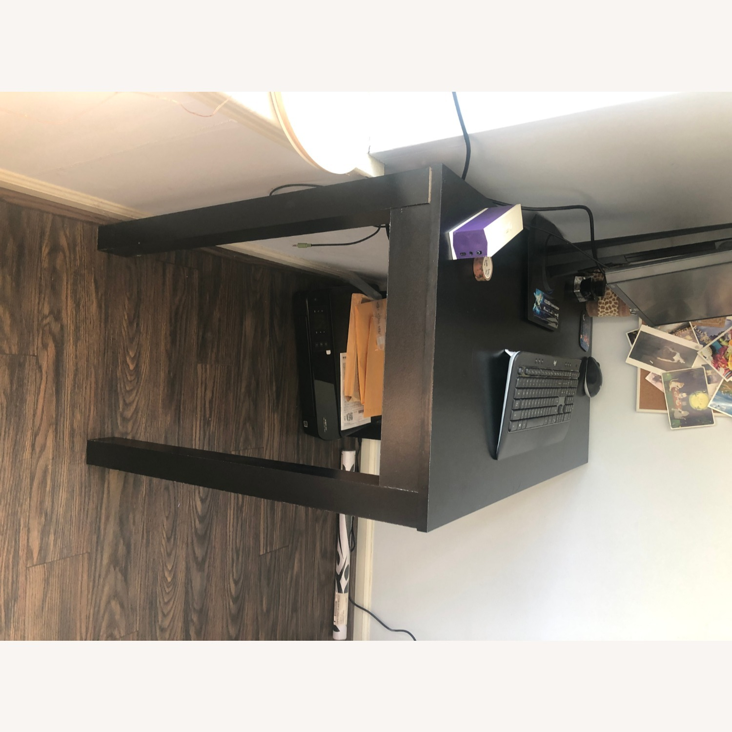 IKEA Black Desk with One Drawer - image-4