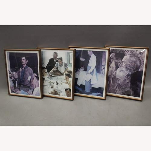 Used Normal Rockwell 4 Piece Wall Art for sale on AptDeco