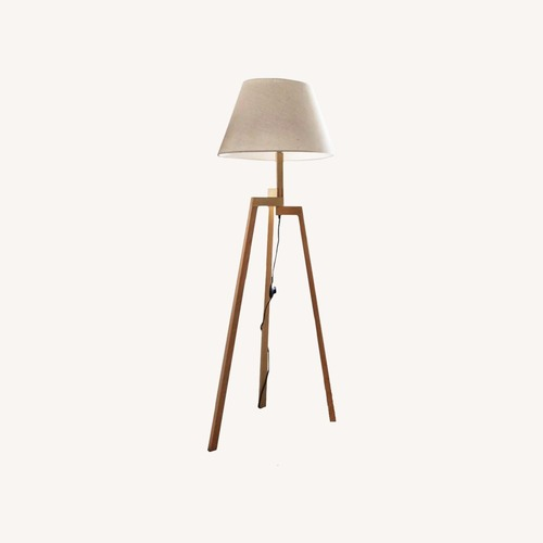 Used Blueground Floor Lamp Natural Cream for sale on AptDeco