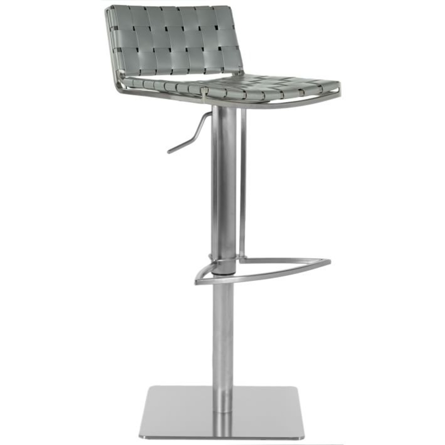 West Elm Woven Leather Barstool - image-1
