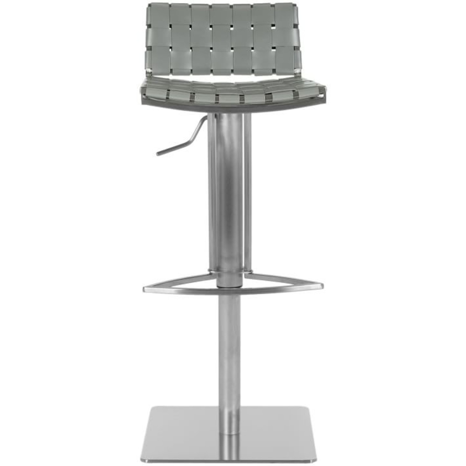 West Elm Woven Leather Barstool - image-3