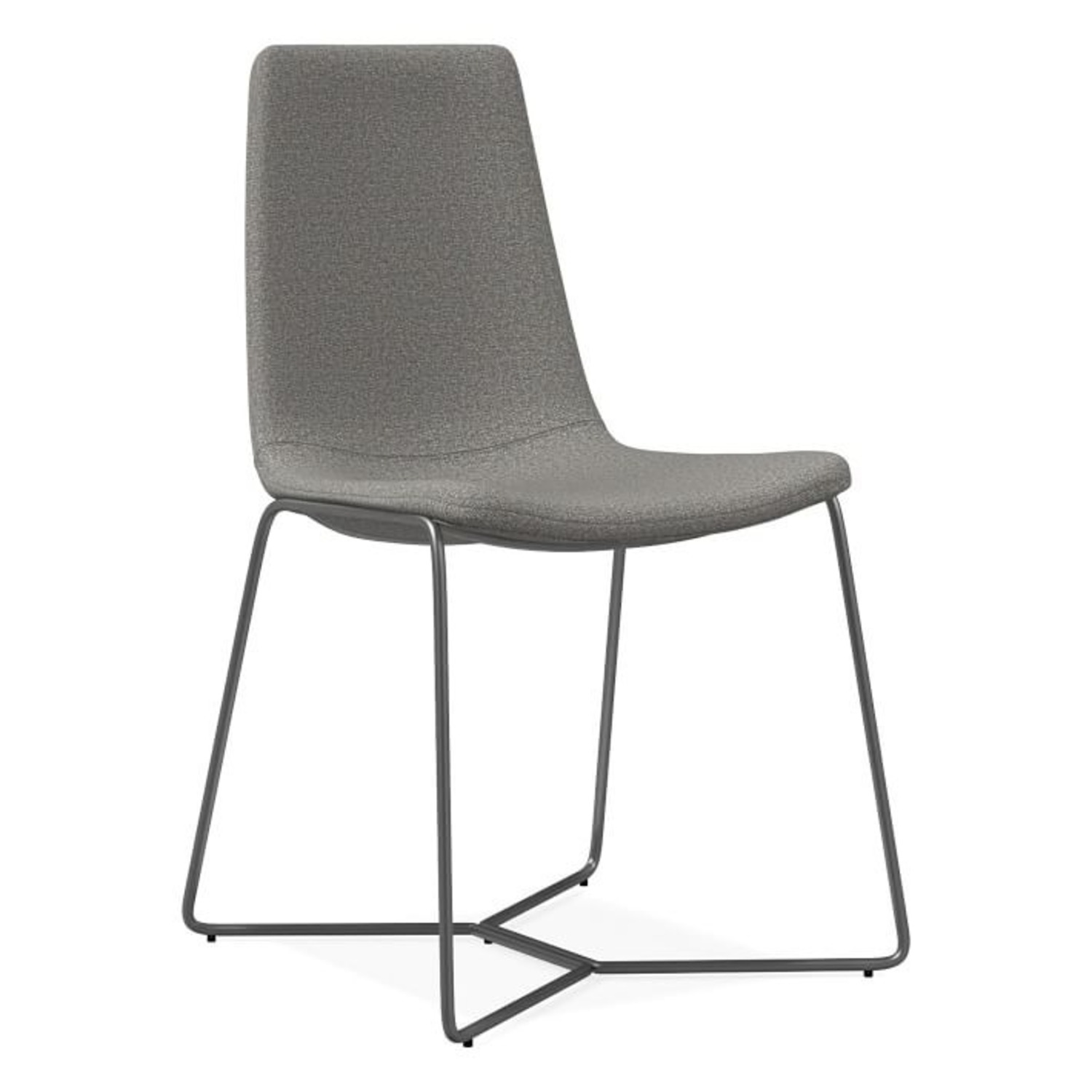 West Elm Slope Upholstered Dining Chair - image-3
