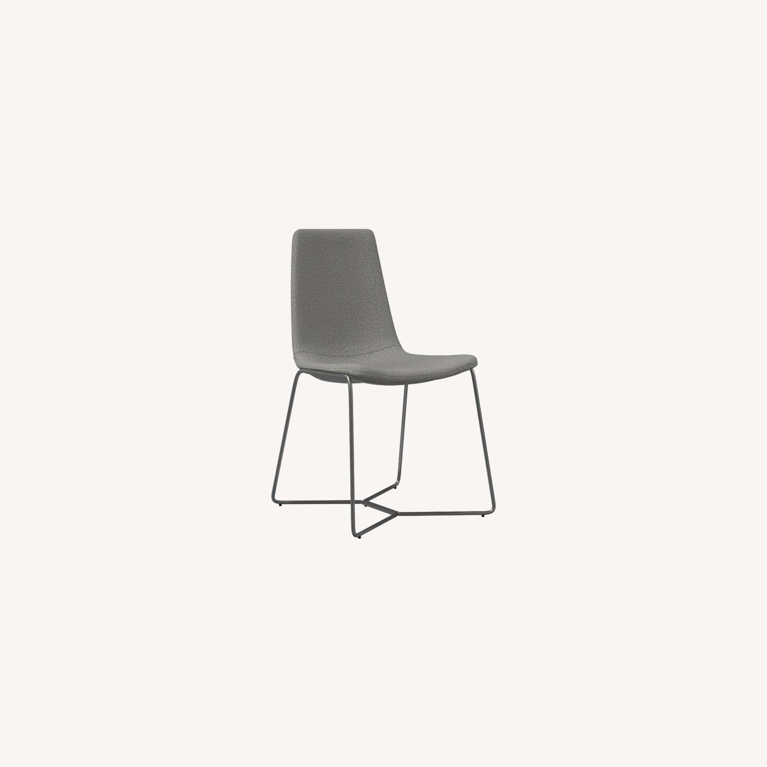 West Elm Slope Upholstered Dining Chair - image-0