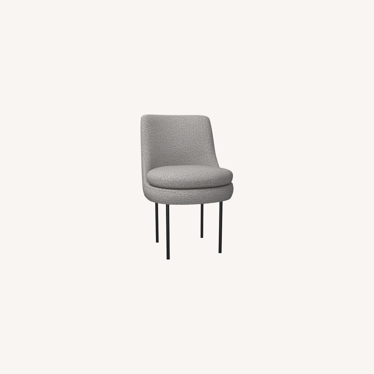 West Elm Modern Curved Upholstered Dining Chair - image-0