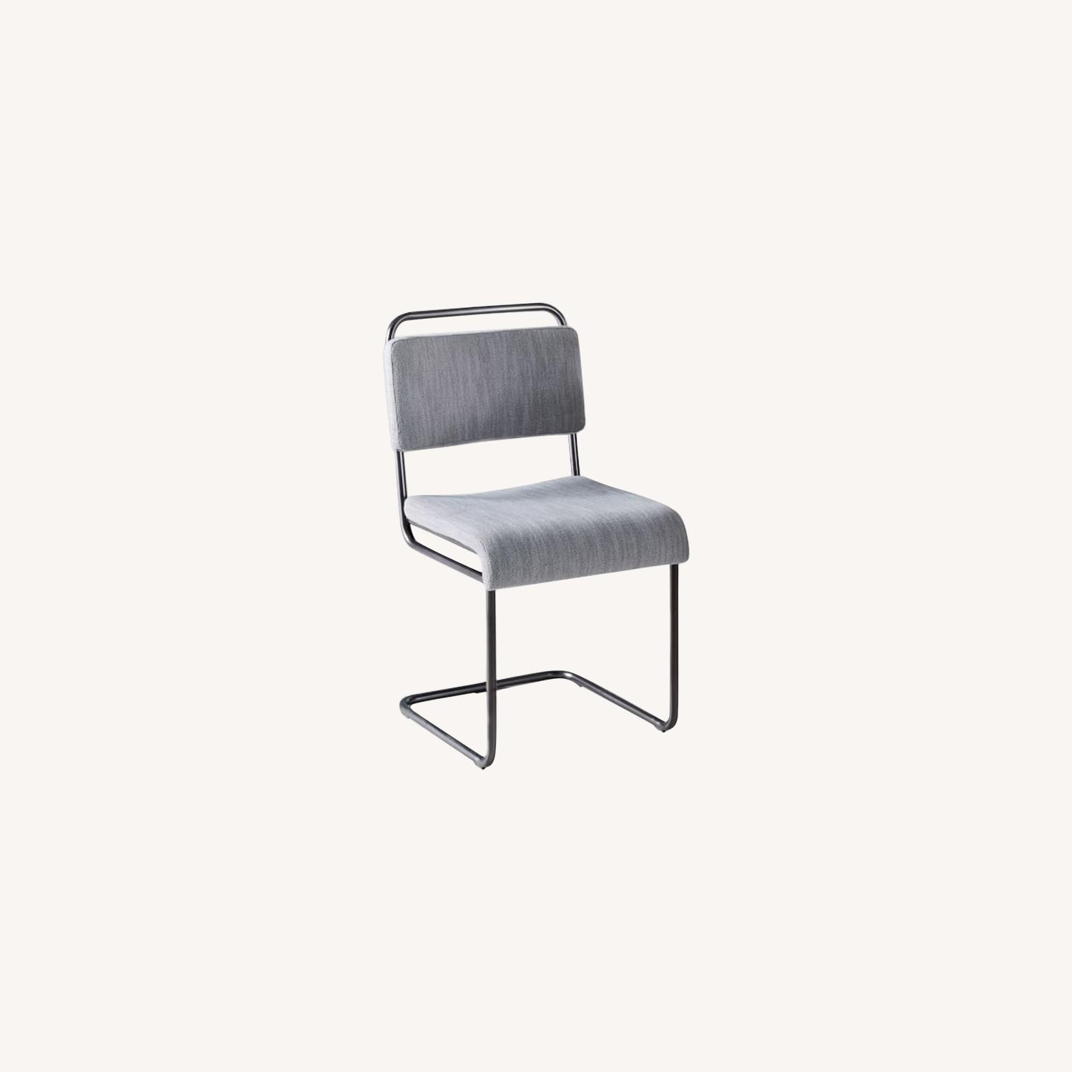 West Elm Industrial Cantilever Upholstered Chair - image-0