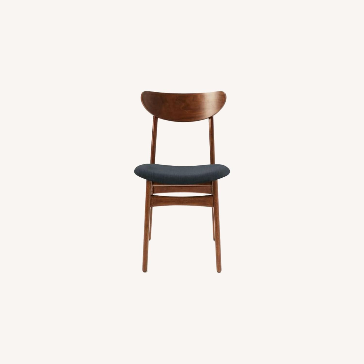 West Elm Classic Café Upholstered Dining Chair - image-0
