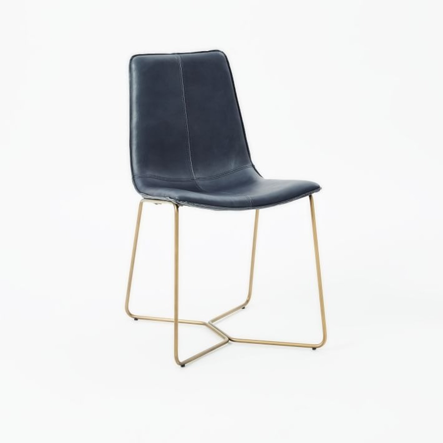 West Elm Slope Leather Dining Chair - image-1