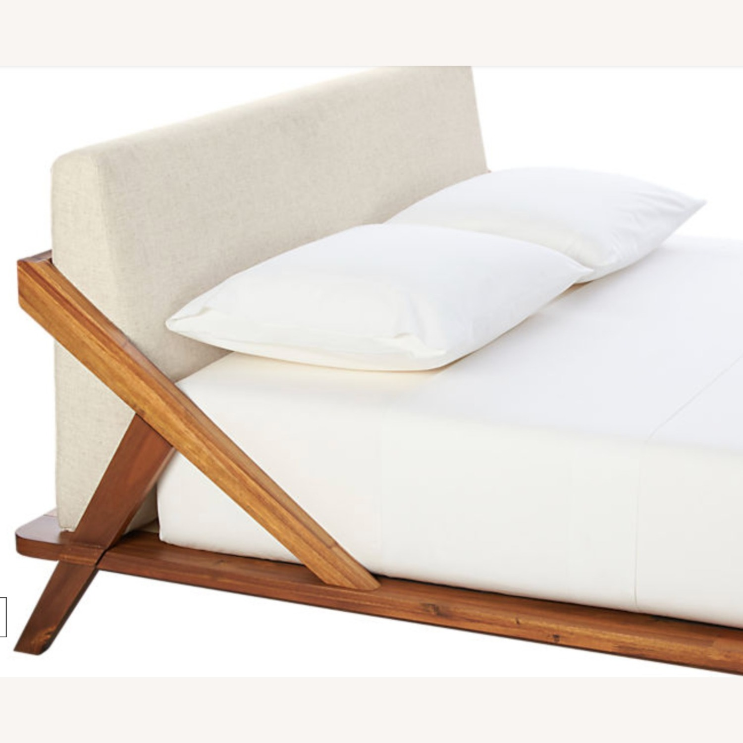 CB2 Drommen Acacia Wood Queen Bed - image-3
