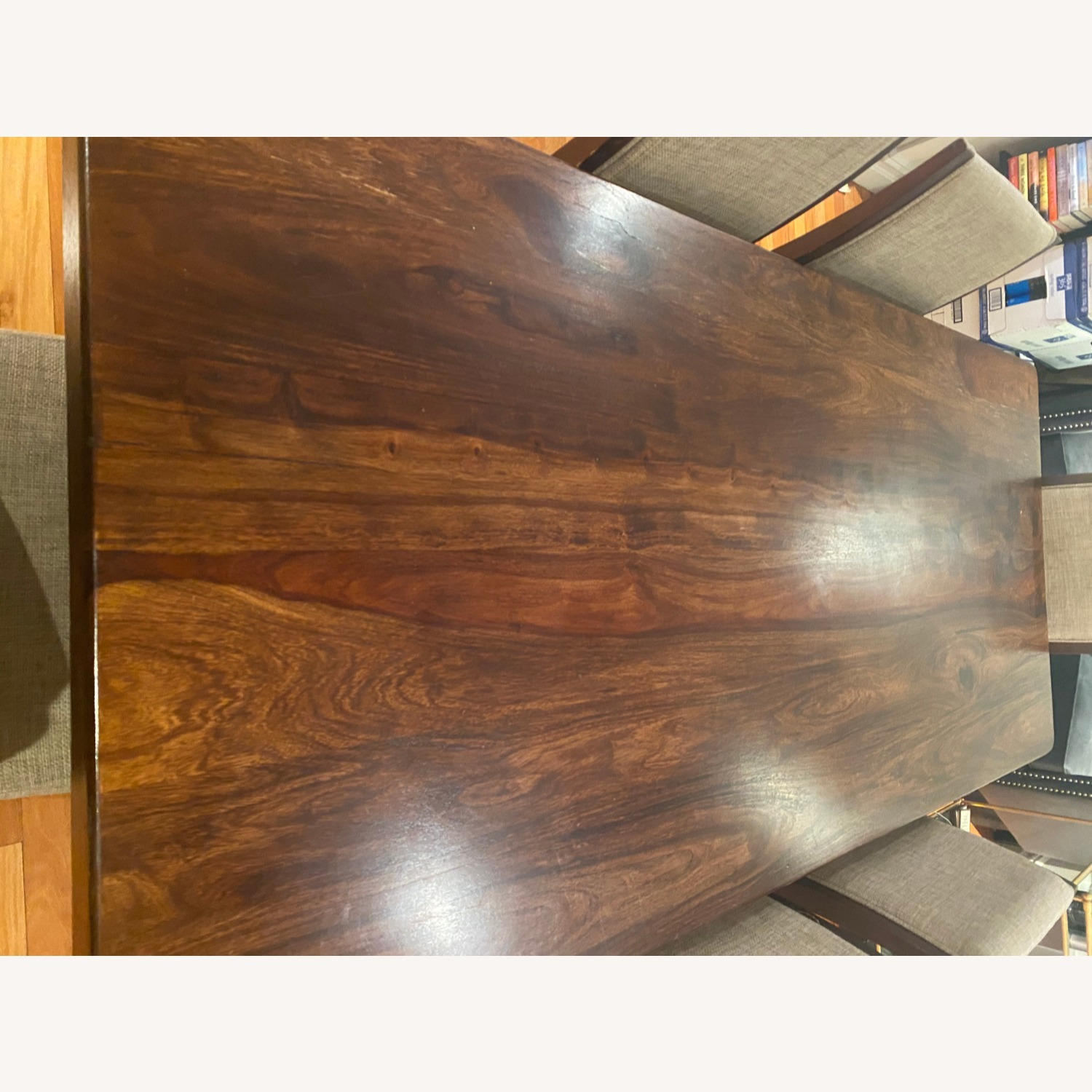 Pier 1 Imports Dark Wood Dining Table, Seats 6 - image-7