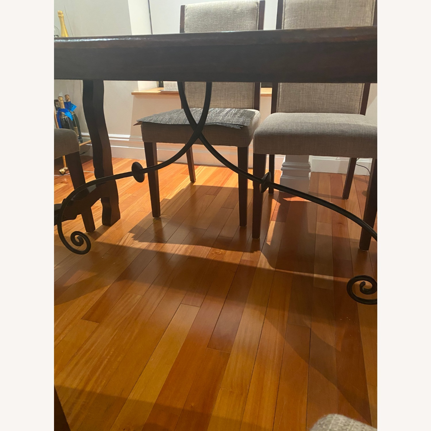 Pier 1 Imports Dark Wood Dining Table, Seats 6 - image-3