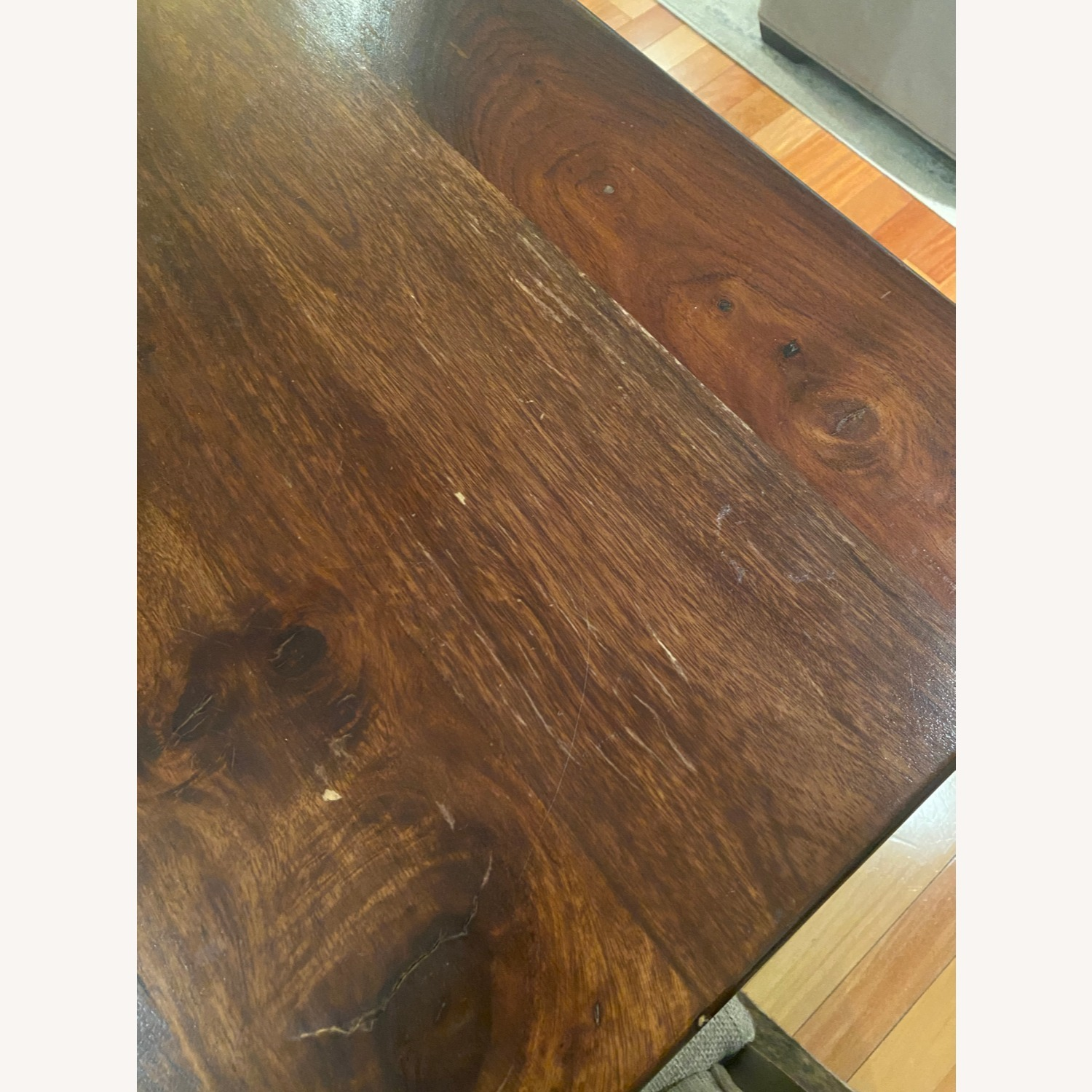 Pier 1 Imports Dark Wood Dining Table, Seats 6 - image-5