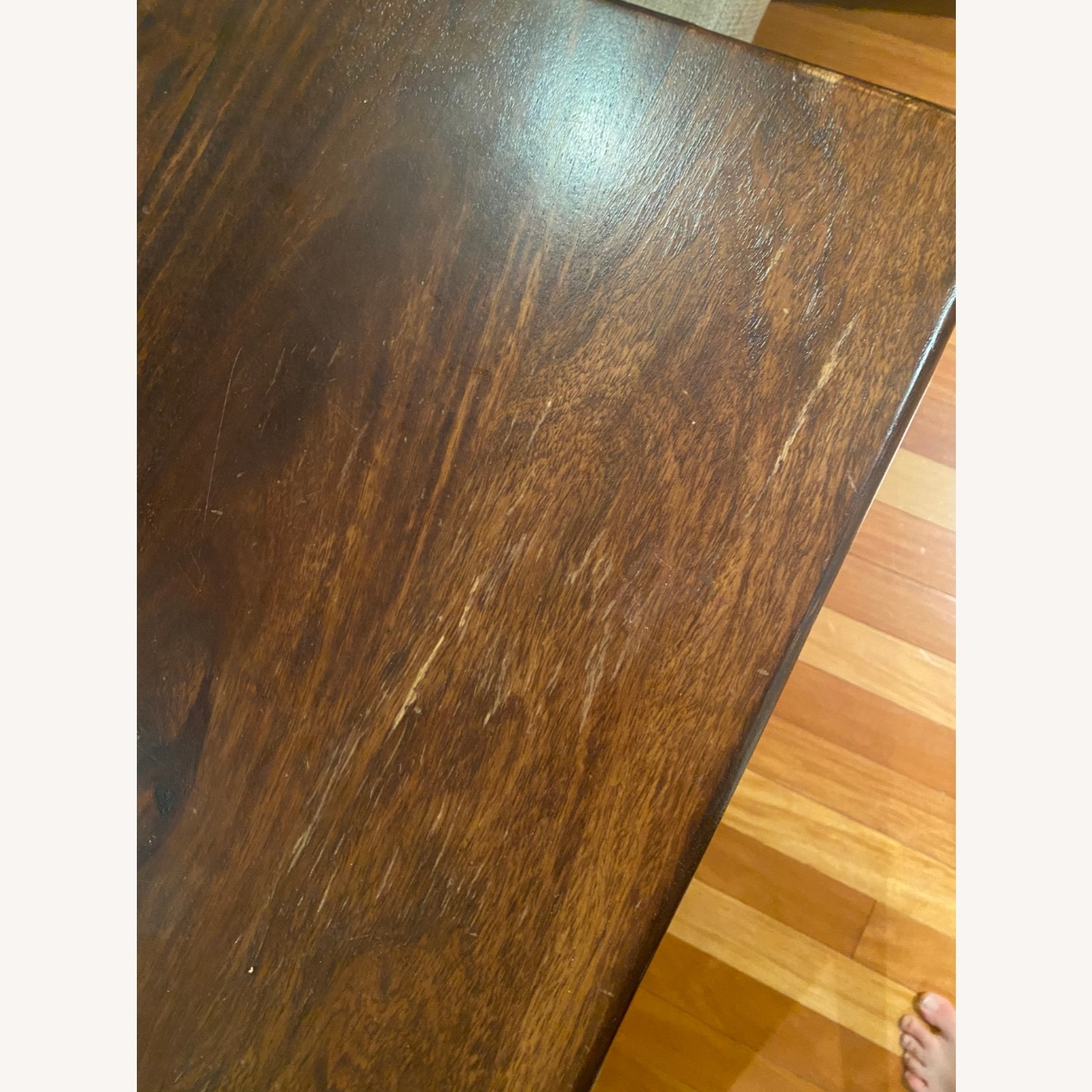 Pier 1 Imports Dark Wood Dining Table, Seats 6 - image-4