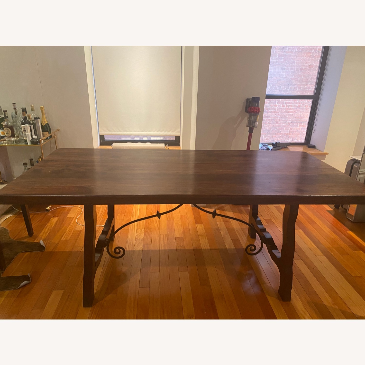 Pier 1 Imports Dark Wood Dining Table, Seats 6 - image-10
