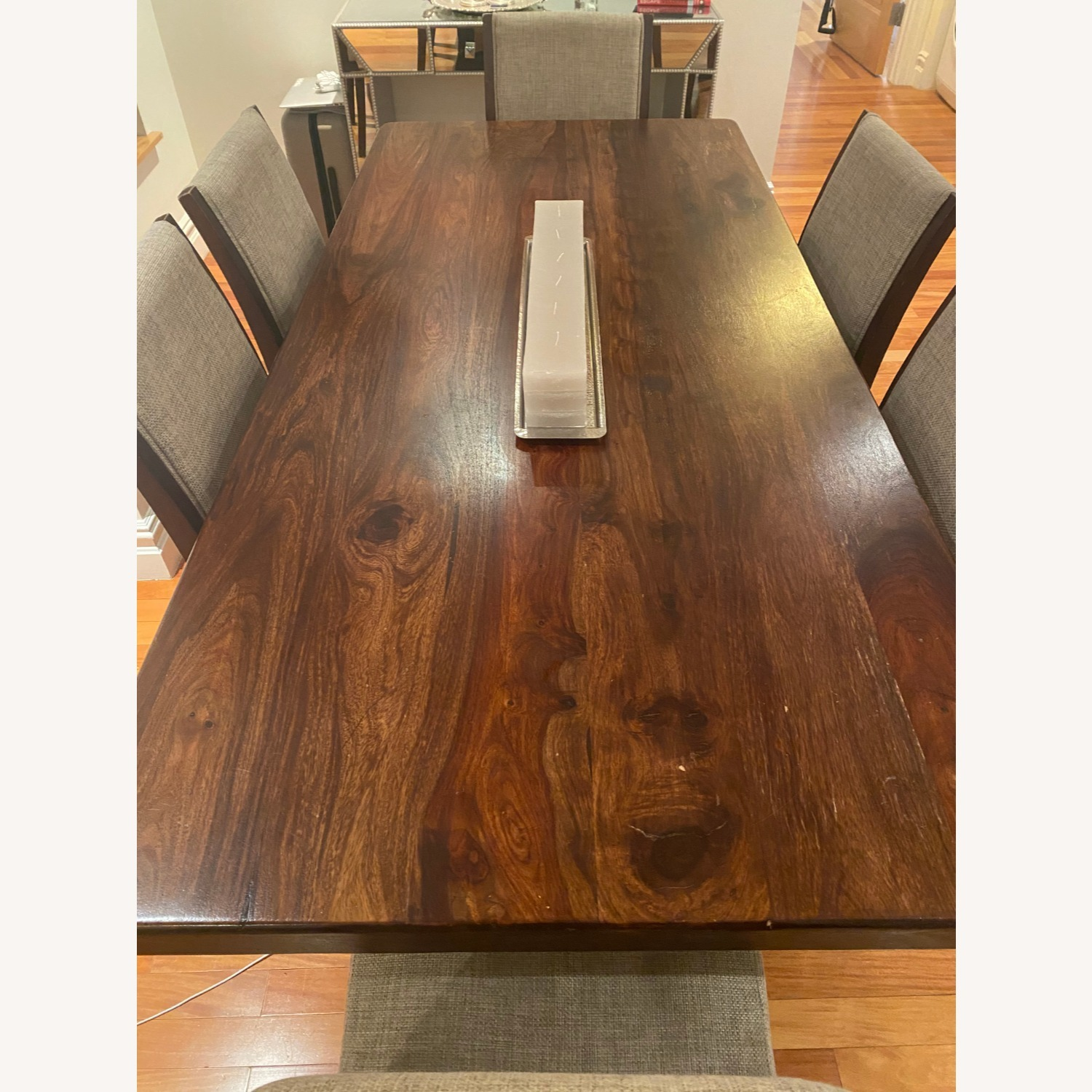 Pier 1 Imports Dark Wood Dining Table, Seats 6 - image-0
